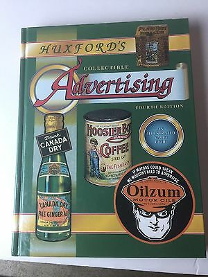 Huxford's Collectible Advertisingg Four Edition Hard Back 320 Pages