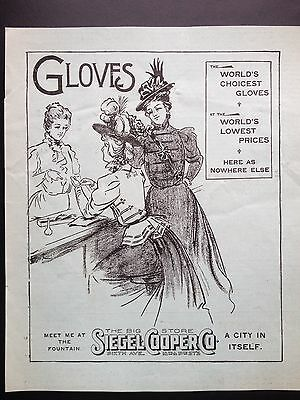 Antique 1897 Ad (1800-14)~Siegel Cooper Co. Brooklyn, Ny. Dept. Store