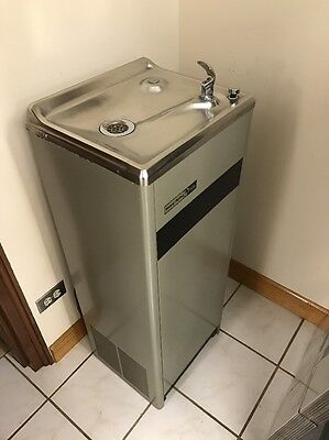 Halsey Taylor Chilled Water Drinking Fountain Standing Stainless Steel