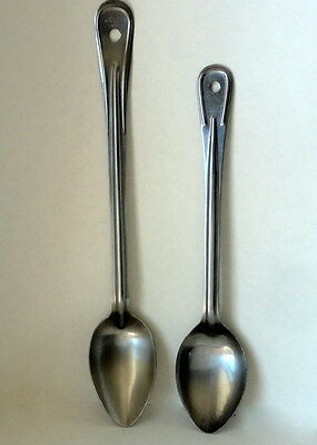 "2 Vintage VOLLRATH Stainless Steel Serving Spoons # 6016 & 46973 15 1/2"" 13 3/8"""