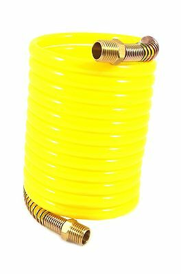 Forney 75417 Recoil Air Hose Yellow Nylon with 1/4-Inch Male NPT Fittings... New