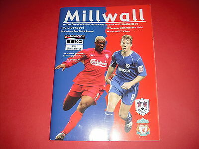 2004/05 Carling Cup Millwall V Liverpool