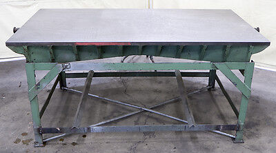 "PRECISION 33"" x 65"" x 7-1/4"" Cast Iron Surface Plate HAND SCRAPED w/ Stand"