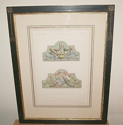 Framed French Victorian Design Print: Motif's Historiques d'Architecture by Daly