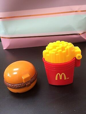 Vintage1996 McDonalds set of food toys/spinners Burger and fries