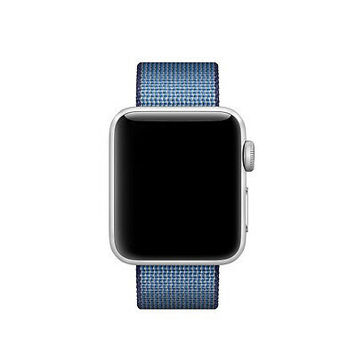 Genuine Apple Watch Woven Nylon Band (38mm, Navy/Tahoe Blue) - New Condition!!