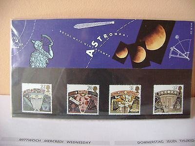 Gb Presentation Pack Astronomy 16/10/1990 Set Of 4 Stamps