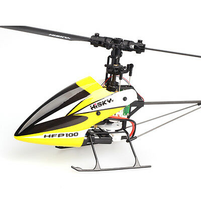 Hisky HFP100 V2 4CH 6 Axis Gyro Flybarless RC Helicopter BNF