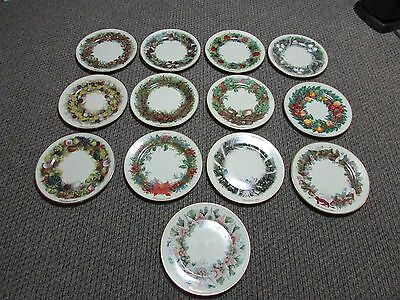 Lenox Complete Set Of 13 Colonial Christmas Wreath Plates 13 Colonies 1981 - 93