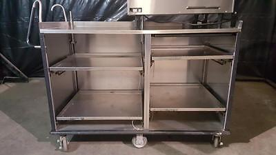 Lakeside 68010 Four Shelf Stainless Vending Cart w/ Pull-Out Shelves
