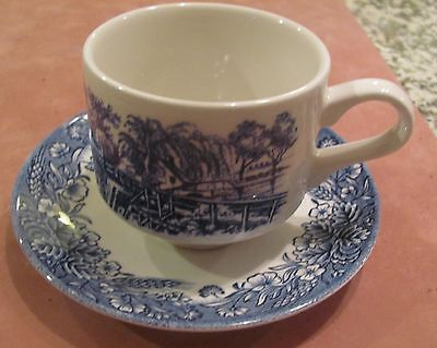 Churchill Currier & Ives, Harvest Heritage Mint cup and saucer