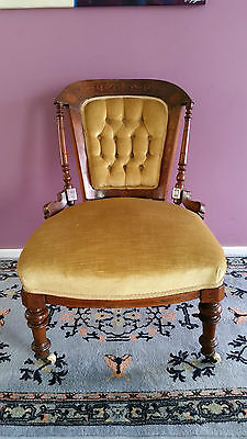 Antique Edwardian Mahogany Bedroom Chair.