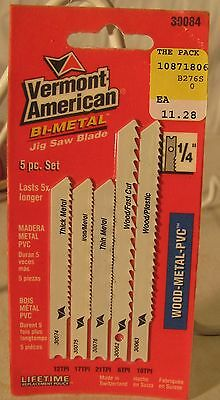 """2 PACK Vermont American 30076 2-3//4/"""" THIN METAL Jig-Saw blade"""