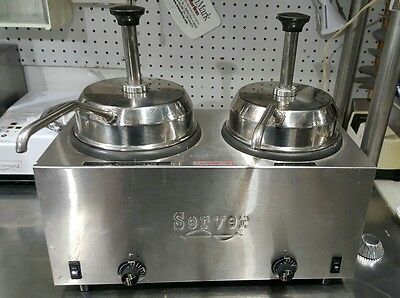 Server 81220 Twin FS Topping Warmer w/ 2 pumps .