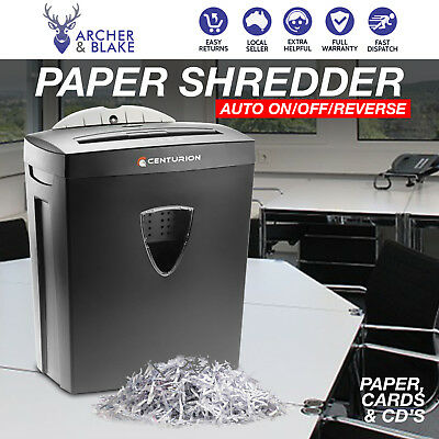 Paper Shredder Electric Cross Cut Home Office 21L 7 A4 Sheet Credit Card CD DVD