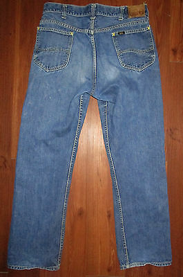 Sanforized Lee Riders Jeans Selvage Mens Tag 34 Union USA Gripper Vintage 33x29