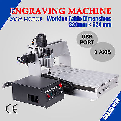 CNC 3D Router Engraver 3 Axis 3040T Wood Engraving Machine w/ USB Port new