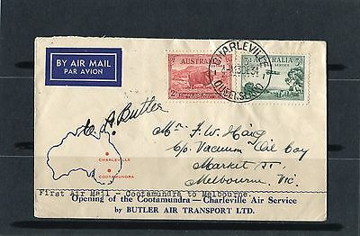 1934 Charleville-Cootamundra Melbourne Flight Cover Signed By Pilot, VGC