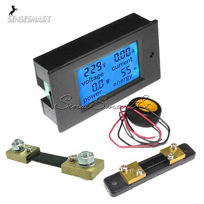 AC 80~260V 20-50-100A DC 6.5~100V LCD Digital Display Volt Amp Power Watt Meter