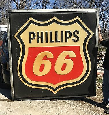 Vintage Lighted Phillips 66 Sign 84x84