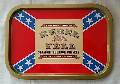 Rebel Yell Straight Bourbon Whiskey Bar Tray The Deep South Established 1849
