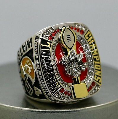2016 2017 Clemson Tigers National Championship Ring 8-14S Back Solid In Stock
