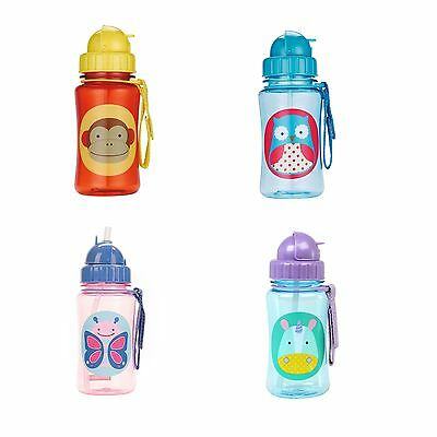 Skip Hop Zoo Straw Baby / Kids / Child Bottle 12 Oz - 12 Months +