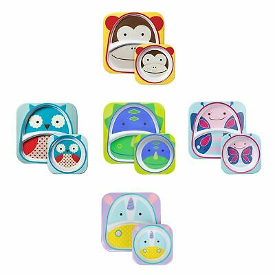 Skip Hop Child / Kids / Toddlers Zoo Plate And Bowl Tableware Set