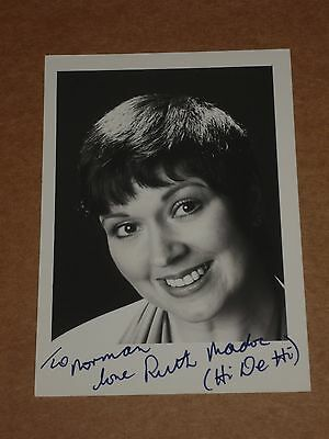 Ruth Madoc (Hi-De-Hi) 5 x 3 early 1980s Agency Publicity Photo (Hand Signed)