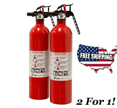 Kidde Fire Extinguisher Multi Purpose 1A10BC, New 2 Pack, SET Free Shipping Cert
