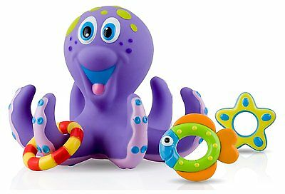 NEW Baby Bath Time Octopus Toy Infant Toddler Education Pool Ring Toss Learn