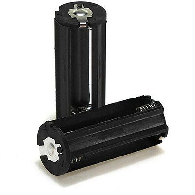 Cylindrical 3 AAA Plastic Battery Holder Adapter Case Box Flashlight accessories