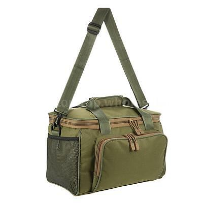 Fishing Shoulder Bag Pack Fishing Tackle Bag Lure Reel Pouch Case Canvas N3T2