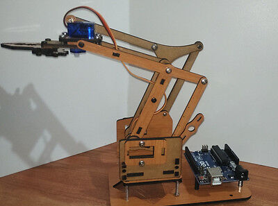 NEW meArm V1.2 Robot laser cut MDF melamine,  with Inner fixed nuts