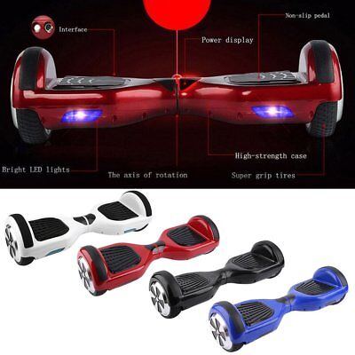 Electric Self-Balancing Scooter LED Kids Toy Smart Balance Skate Board E-Scooter
