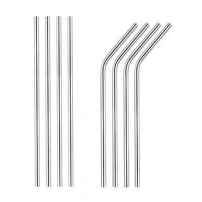 Premium Stainless Steel Metal Drinking Straws Reusable BBQ Cocktail Party Straw