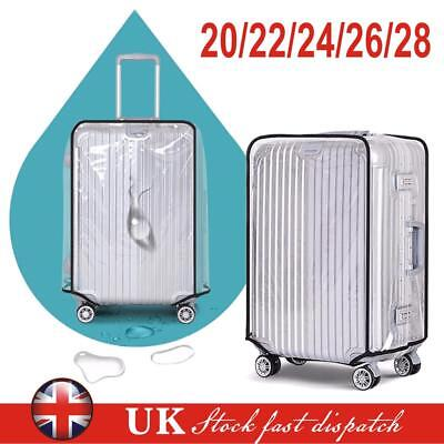PVC Transparent Travel Luggage Protector Suitcase Cover 20''22''24''26''28''