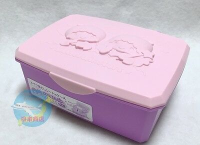 Brand-NEW SANRIO Little Twin Stars Small Box with Hinged Lid Wet Tissue Case
