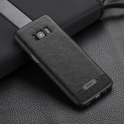 Galaxy S8 / S8 Plus Case Luxury Slim Shockproof PU Leather Soft Cover fr Samsung