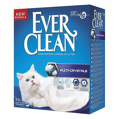 sabbia gatto EVER CLEAN conveniente MULTI CRISTALS agglomerante 6L