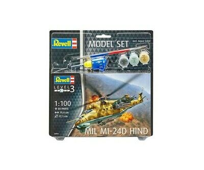 Revell 64951 1:100 Model Set Mil Mi-24D Hind