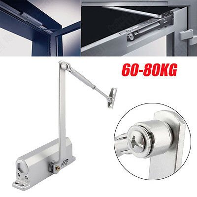 Heavy Duty Aluminum 60-80KG Fire Rated Overhead Door Closer Opener Soft Close