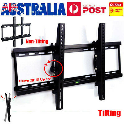 "AU SLIM TILT TV WALL BRACKET MOUNT PLASMA LED LCD 26 37 40 42 46 48 50 55"" Home"