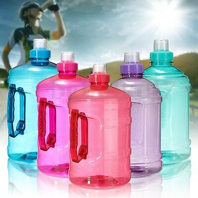 AU 1L/2L Large BPA Free Sport Gym Training Drink Water Bottle Cap Kettle Workout