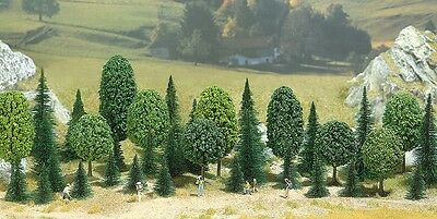 Busch 6591 Mixed Trees 30-60mm (Qty 50) N Gauge Tracked 48 Post