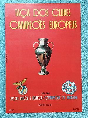 1990 - EUROPEAN CUP SEMI FINAL 2ND LEG PROGRAMME - BENFICA v MARSEILLE