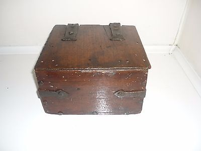 Early 16th Century English Gothic Iron Bound Walnut Box C1500