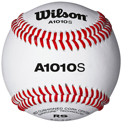 Wilson A1010S Full Grain Leather Cover  Blem Baseballs - 1 Dozen