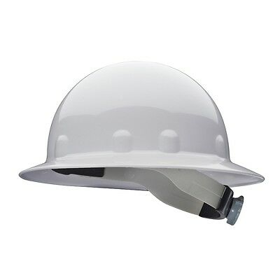 Fibre-Metal Full Brim Hard Hat with 8 Point Ratchet Suspension, White