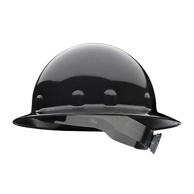 Fibre-Metal Full Brim Hard Hat with 8 Point Ratchet Suspension, Black